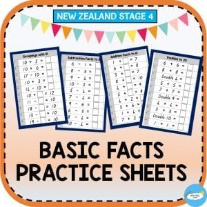 stage 4 basic facts maths practice worksheet created by fluffy clouds learning