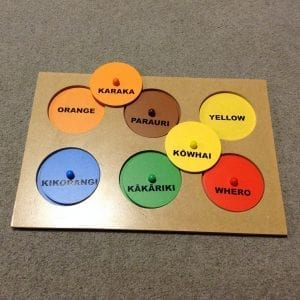 Maori and English colour puzzle listed for sale on Teachers' Lounge NZ